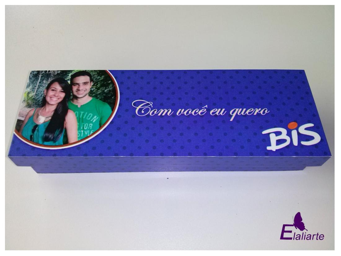 Caixa de BIS personalizado azul