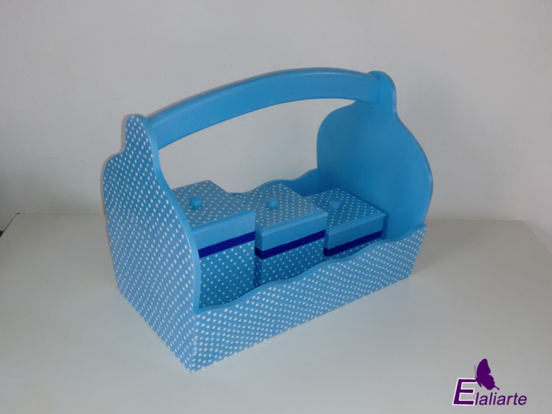 Kit higiênico Azul Poá