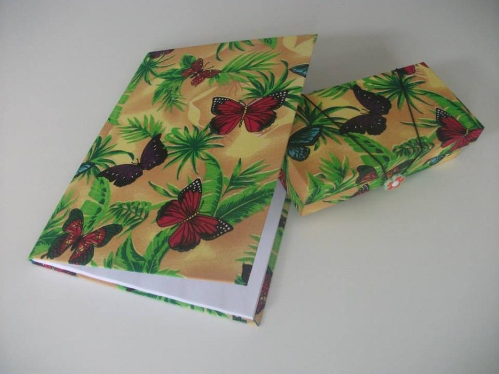 Caderno personalizado borboletas