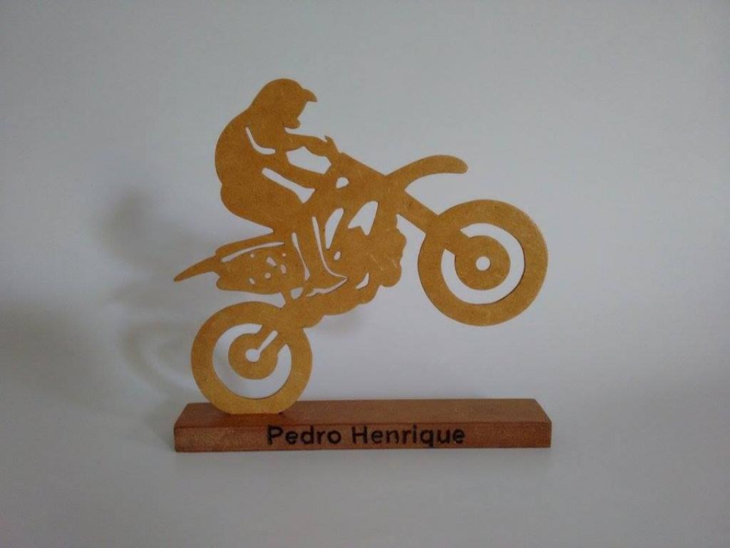 Enfeite de recorte - Motocross
